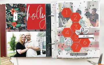 Larkindesign December Daily 2019 Day 01 ft. Sahlin Studio Holly Days