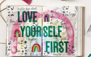 Larkindesign Art Journal Layout | Love Yourself First