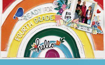 Larkindesign Kids Scrapbook Album Project | Emberlynn Edition Fourth Grade