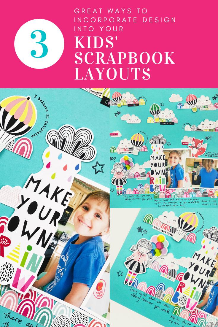 Larkindesign Kids Scrapbook Album Project | Natalie Edition Make Your Own Rainbow