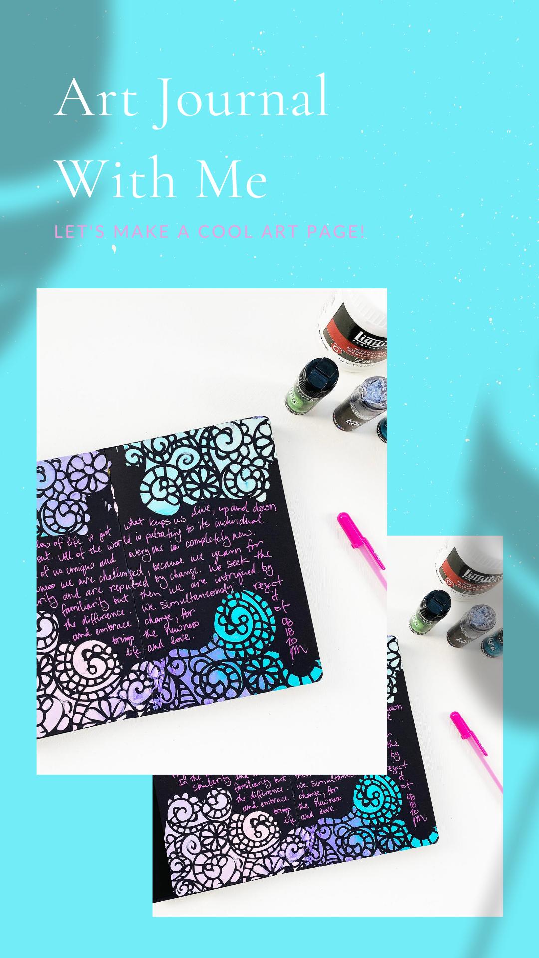 Light The Path Art Journal With Me   New Dina Wakley Black Art Journal